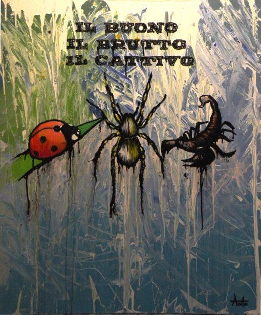HostedByJL - Galerie d'art en ligne - Anto fils de pop - il Buono il brutto il cattivo (Le bon, la brute et le truand)