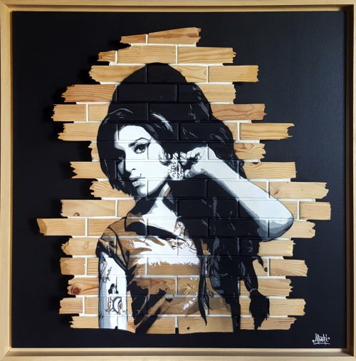 HostedByJL - Galerie d'art en ligne - Mr One teas - Amy (Amy Winehouse)