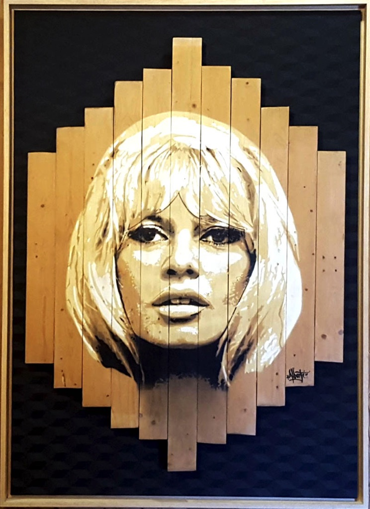 HostedByJL - Galerie d'art en ligne - Mr One teas - Brigitte (Brigitte Bardot)