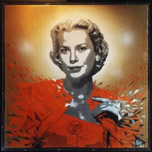 HostedByJL - Galerie d'art en ligne - Mr One teas - Grace vs Hermès (Grace Kelly)