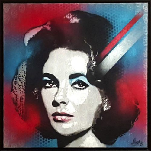 HostedByJL - Galerie d'art en ligne - Mr One teas - Liz and Skulls (Liz Taylor)