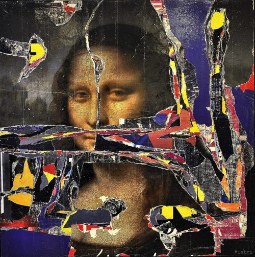 HostedByJL - Galerie d'art en ligne - Jean-Pierre Pietri - Lisa Ripped (Mona Lisa)