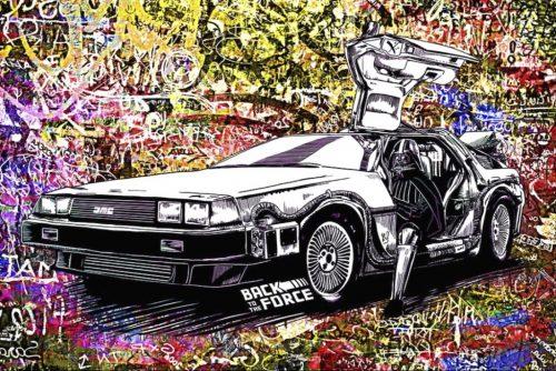 HostedByJL - Galerie d'art en ligne - Youns - Back to the force - (Vador - Retour vers le futur)