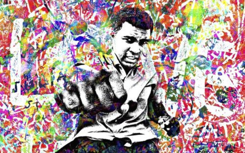 HostedByJL - Galerie d'art en ligne - Youns - Love Ali (Mohamed Ali - Cassius Clay)