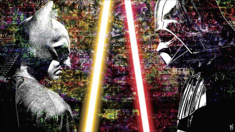 HostedByJL - Galerie d'art en ligne - Youns - BatVader - Batman - Dark Vador