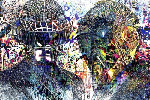 HostedByJL - Galerie d'art en ligne - Youns - Daft Punk
