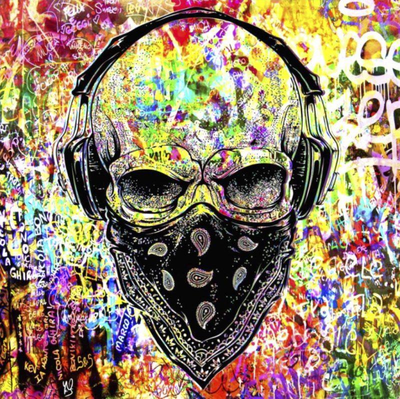 HostedByJL - Galerie d'art en ligne - Youns - GangSkull (Gangsta - Skull)