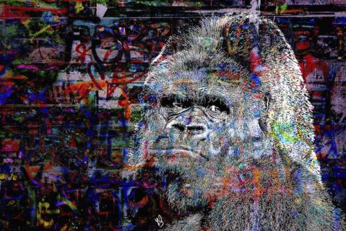 HostedByJL - Galerie d'art en ligne - Youns - The Gorilla