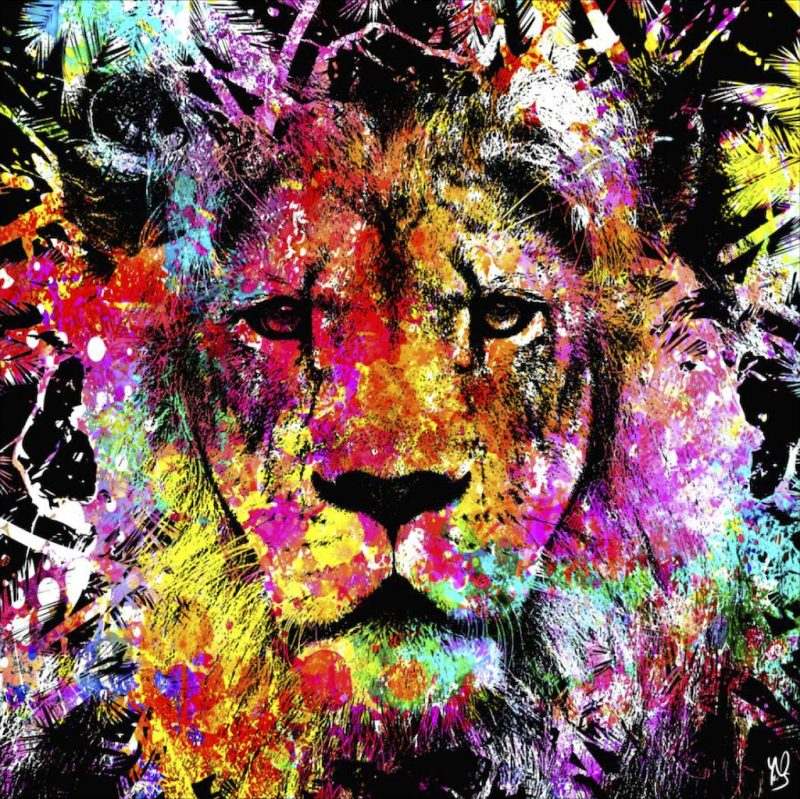 HostedByJL - Galerie d'art en ligne - Youns - The Lion