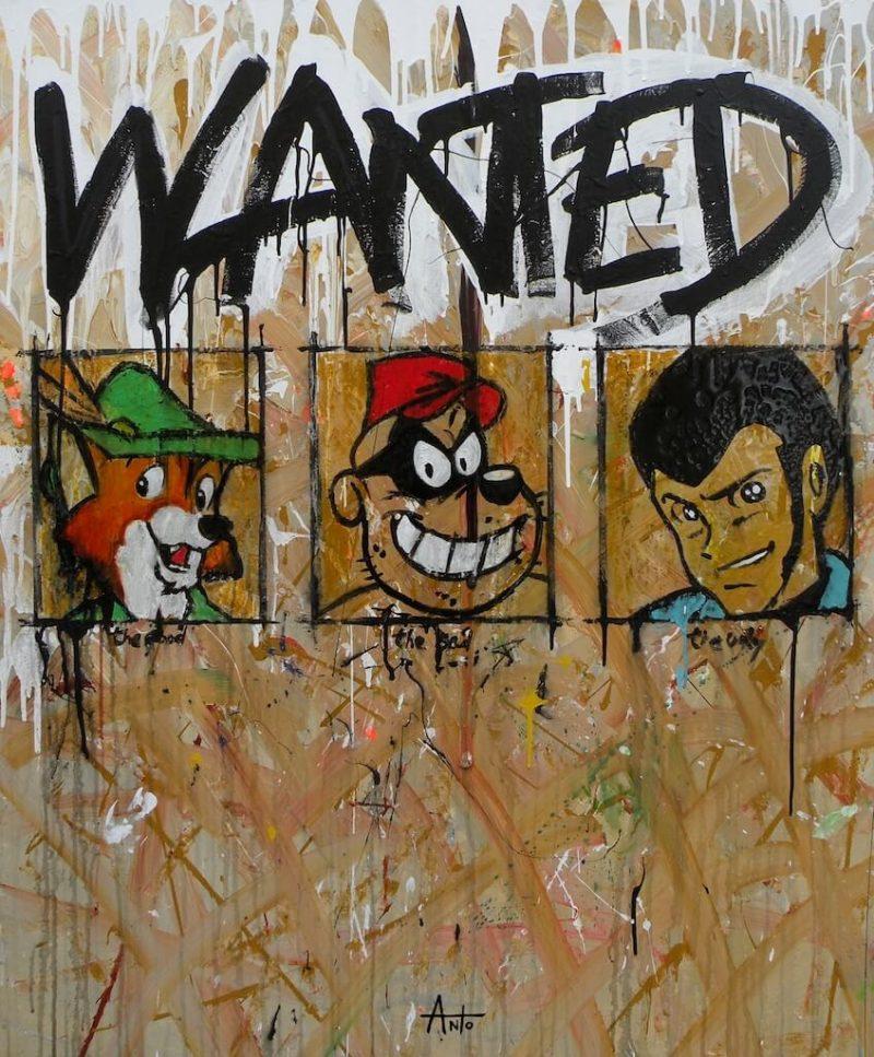 HostedByJL - Galerie d'art en ligne - Anto fils de pop - Wanted (il buono il brutto il cattivo 2018)