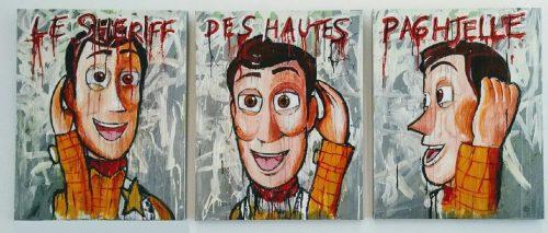HostedByJL - Galerie d'art en ligne - Anto fils de pop - Woodyphonie (Woody)