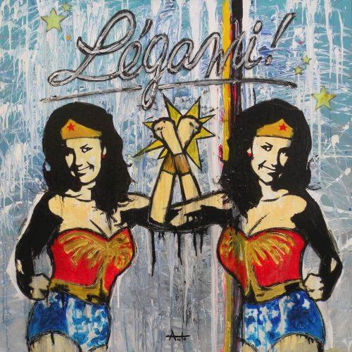 HostedByJL - Galerie d'art en ligne - Anto fils de pop - Attache Moi (Wonder Woman)